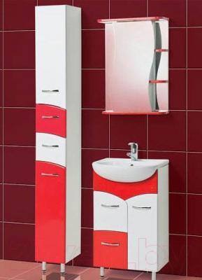 Шкаф с зеркалом для ванной Акваль Виктория 50 (ЕВ.04.50.02.L) - комплект в сборе