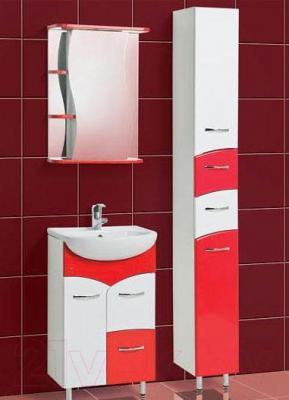 Шкаф с зеркалом для ванной Акваль Виктория 50 (ЕВ.04.50.02.R) - комплект в сборе
