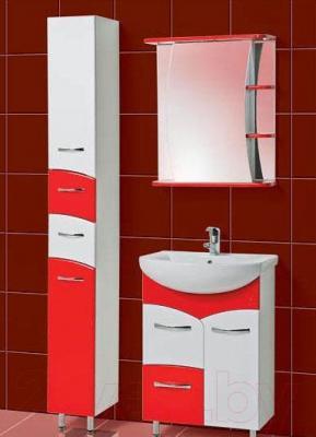 Шкаф с зеркалом для ванной Акваль Виктория 60 (ЕВ.04.60.02.L) - комплект в сборе