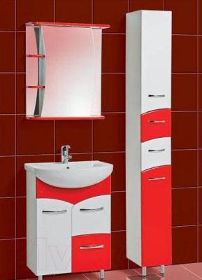Шкаф с зеркалом для ванной Акваль Виктория 60 (ЕВ.04.60.02.R) - комплект в сборе