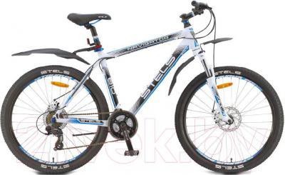Велосипед Stels Navigator 810 MD (21.5, бело-черно-синий) - общий вид