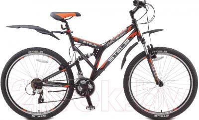 Велосипед Stels Challenger 2014 (серо-оранжевый) - общий вид