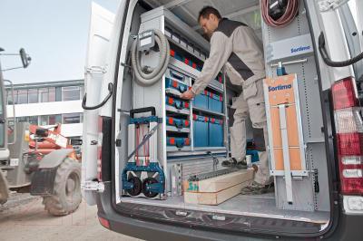 Ящик для инструментов Bosch 238 (1.600.A00.1RS) - в работе