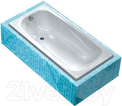 Ванна стальная White Wave Italica 170x75 (с подлокотником и ручками)