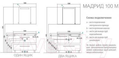 Тумба для ванной Акватон Мадрид 100 М (1A127903MA940)