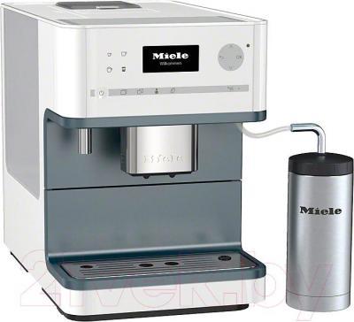 Кофемашина Miele CM 6310 LOWE (белый лотос) - металлический уголок к трубке подачи молока не входит в комплект