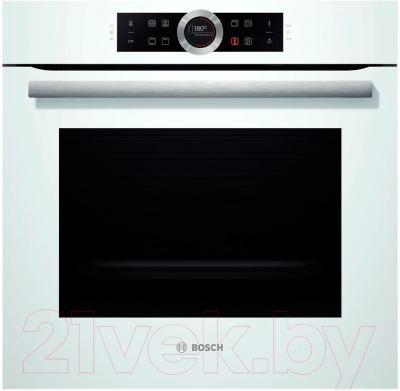 Электрический духовой шкаф Bosch HBG633NW1 - вид спереди