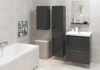 Зеркало для ванной Cersanit Galaxy 50 S572-011 (черный) - в интерьере 1