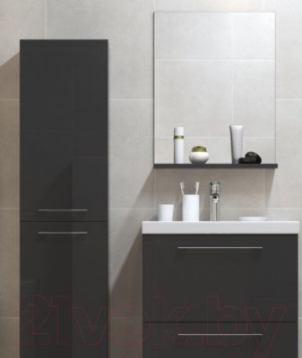 Зеркало для ванной Cersanit Galaxy 50 S572-011 (черный) - вид спереди 2