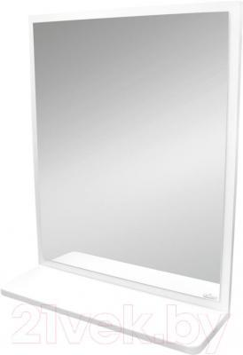 Зеркало для ванной Cersanit Alpina S516-007 (белый) - общий вид