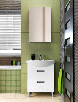 Шкаф с зеркалом для ванной Cersanit Dahlia 53 S548-006 (белый)