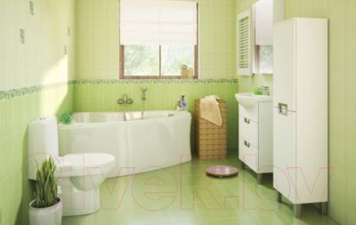 Шкаф с зеркалом для ванной Cersanit Dahlia 53 S548-006 (белый) - в интерьере 1