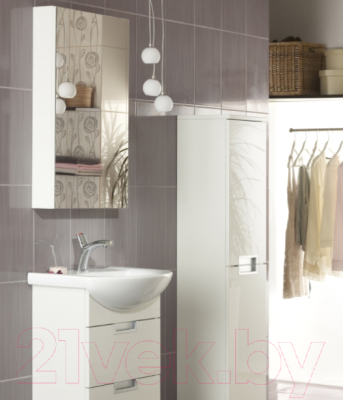 Шкаф с зеркалом для ванной Cersanit Dahlia 53 S548-006 (белый) - в интерьере 2