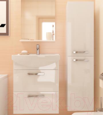 Шкаф-полупенал для ванной Cersanit Melar 35 S614-004 (белый) - в интерьере 1