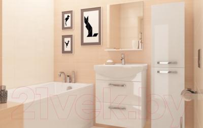 Шкаф-полупенал для ванной Cersanit Melar 35 S614-004 (белый) - в интерьере 2