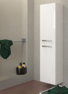 Шкаф-полупенал для ванной Cersanit Melar 35 S614-004 (белый) - в интерьере 4