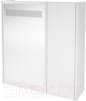 Зеркало для ванной Ванланд Квадро Кз 1-55 (белый) - общий вид