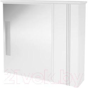 Зеркало для ванной Ванланд Квадро Кз 2-70 (серый) - общий вид