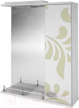 Зеркало для ванной Ванланд Аркадия Арз 1-60 (оливковый, правое) - общий вид