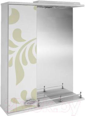 Зеркало для ванной Ванланд Аркадия Арз 1-60 (оливковый, левое) - общий вид