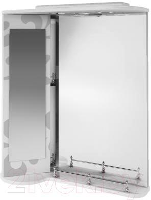 Зеркало для ванной Ванланд Аркадия Арз 3-65 (серый, левый) - общий вид