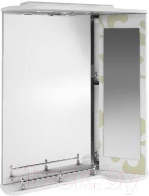 Зеркало для ванной Ванланд Аркадия Арз 3-65 (оливковый, правый) - общий вид
