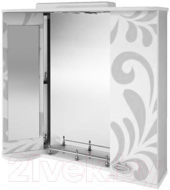 Зеркало для ванной Ванланд Аркадия Арз 4-80 (серый) - общий вид