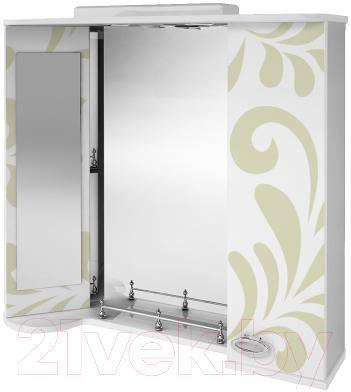 Зеркало для ванной Ванланд Аркадия Арз 4-80 (оливковый) - общий вид