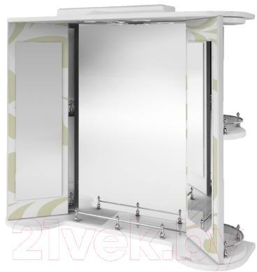 Зеркало для ванной Ванланд Аркадия Арз 3-80 (оливковый) - общий вид