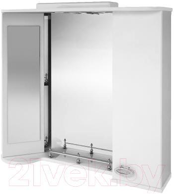 Зеркало для ванной Ванланд Жемчуг Жз 4-80 (правый) - общий вид