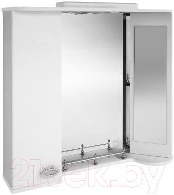 Зеркало для ванной Ванланд Жемчуг Жз 4-80 (левый) - общий вид