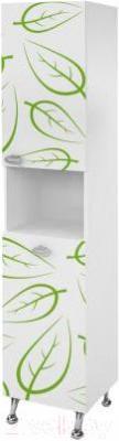 Шкаф-пенал для ванной Ванланд Эвкалипт ЭП-2 - общий вид