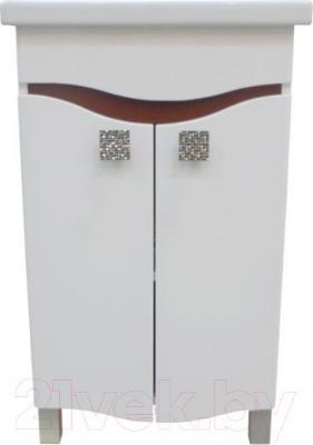 Тумба под умывальник Ванланд Симфония 1-60 (коричневый) - общий вид (умывальник приобретается отдельно)