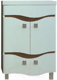 Тумба под умывальник Ванланд Симфония 2-60 (коричневый) - общий вид (умывальник приобретается отдельно)