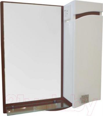 Зеркало для ванной Ванланд Симфония 1-50 (коричневый, правое) - общий вид