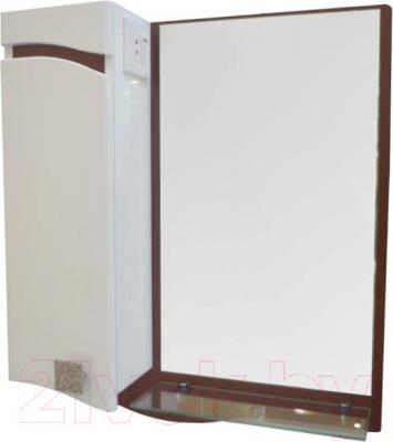 Зеркало для ванной Ванланд Симфония 1-50 (коричневый, левое) - общий вид