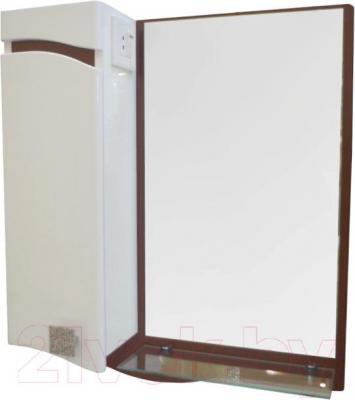 Зеркало для ванной Ванланд Симфония 1-60 (коричневый, левое) - общий вид