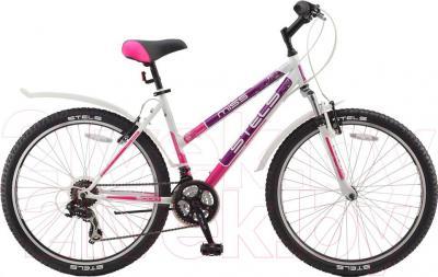 Велосипед Stels Miss 5000 V (18, белый, фиолетовый, розовый) - общий вид