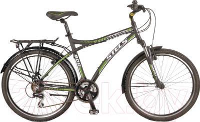 Велосипед Stels Navigator 800 2015 (черный, зеленый, белый)