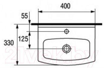 Умывальник встраиваемый Cersanit Cersania 40B - габаритные размеры