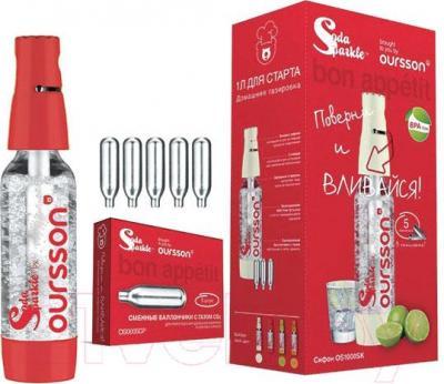 Набор для домашней газировки Oursson OS1000SK/RD