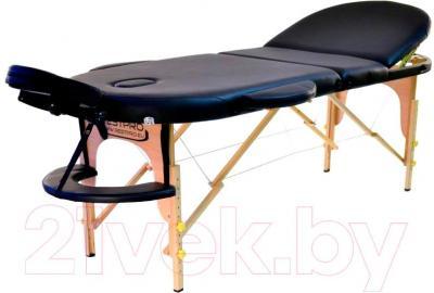 Массажный стол Restpro Vip Oval 3 (черный) - общий вид