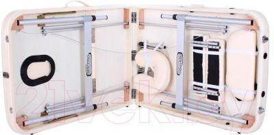 Массажный стол Restpro Alu 3 (кремовый) - в сложенном виде