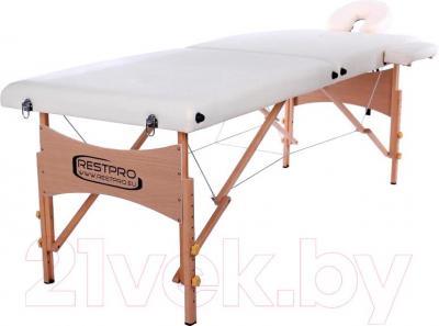 Массажный стол Restpro Classic 2 (кремовый) - общий вид