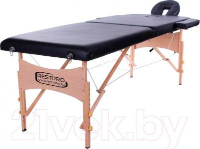 Массажный стол Restpro Classic 2 (черный) - общий вид