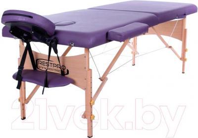 Массажный стол Restpro Classic 2 (пурпурный) - общий вид