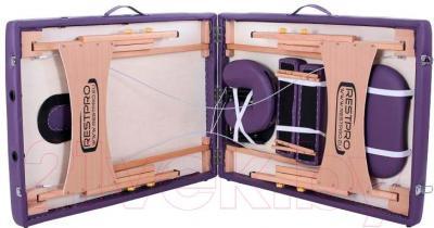 Массажный стол Restpro Classic 2 (пурпурный) - в сложенном виде