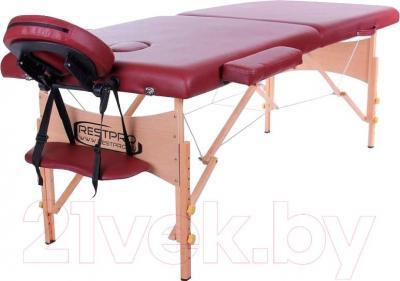 Массажный стол Restpro Classic 2 (красное вино) - общий вид