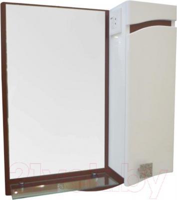 Зеркало для ванной Ванланд Симфония 1-60 (коричневый, правое) - общий вид