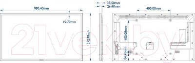 Монитор Philips BDL4220QL/00 - габаритные размеры